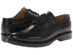 Frye James Lug Wingtip Black Smooth Full Grain - 6pm.com