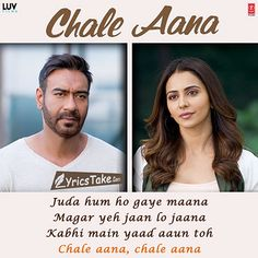 Chale Aana Lyrics - De De Pyaar De: This Hindi song is sung by Armaan Malik and music composed by Amaal Mallik while lyrics are written by Kunaal Vermaa. Romantic Song Lyrics, Best Song Lyrics, Beautiful Lyrics, Me Too Lyrics, Music Lyrics, Secret Love Quotes, Love Song Quotes, Song Lyric Quotes, Bollywood Quotes