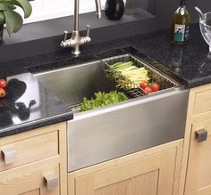 Belfast stainless steel kitchen sink. Now there's a thought.