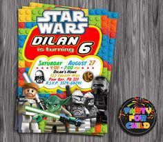 Lego star wars ticket style invitations slim style click to lego star wars invitation in digital file you print filmwisefo