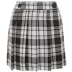 Women's Topshop Plaid Kilt Miniskirt ($60) ❤ liked on Polyvore featuring skirts, mini skirts, tartan mini skirt, tartan skirt, short mini skirts and plaid miniskirts
