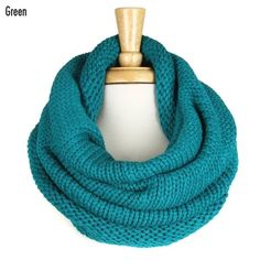 Green Turtleneck Infinity Scarf
