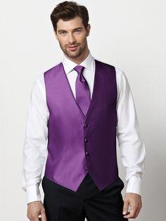 purple vests and ties