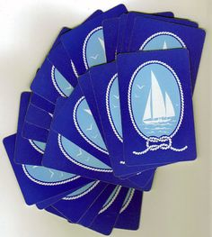 Guestbook- SAILBOAT Vintage Playing Cards 37 Great for Tags by BellaMercato, $2.50