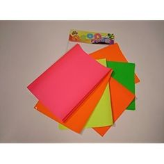 Pack Of 50 A4 Sheets Of Assorted Fluorescent Neon Paper @2.49