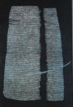 Claudia Gemein Wandteppich filz 123x207cm 1998