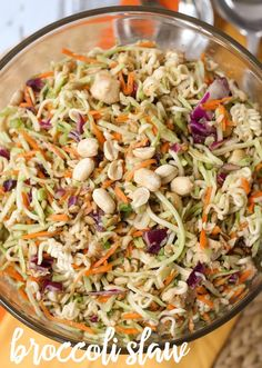Delicious Broccoli Slaw recipe on { lilluna.com }