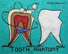 Strong Teeth  Beautiful Original Museum Quality Open Edition print/ poster By International American Artist Anthony Falbo  Size: 18x 24  Excellent