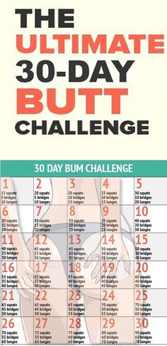 Get Your Best Butt Ever Use the 30 – Day Butt Workout Challenge