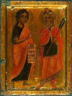 Holy Forefathers and Prophets of God - Moses and Aaron Best Icons, Old Testament, Orthodox Icons, Illuminated Manuscript, Byzantine, Ikon, Saints, Objects, Museum