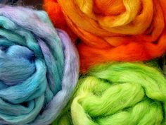 Hand-Dyed Wool Roving by stelladanza's confections, via Flickr