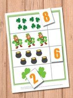 irst game is all about counting! 4 sheets of leprechaun fun and numbers from 1 to 10!   Print out all pages. On the 4 pages with counting figures put some velcro on the blank spot so your kids or students will be able to attach their answers on it. Naturally the games can be played without that but it's way more fun with velcro!  Print out all pages. On the 4 pages with counting fi...