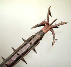 how to make a paper mache dagger