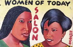 """Women of Today"" African Beauty Salon Sign"
