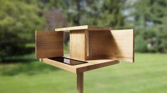 Wooden Bird Feeder  By Menu