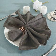 "Leilaniwholesale 5 pcs 20"" x 20"" Premium Faux Burlap Polyester Table Napkins. Compliment your party table decorations with the timeless charm of faux burlap napkins from Leilani Wholesale!"