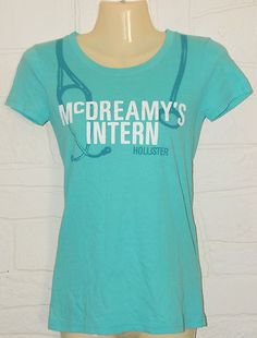Hollister McDreamy's Intern SMALL Shirt Teal Grey's Anatomy Dr Shepherd $19.99