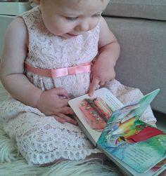 Abito bambina in pizzo macramè lilla : Moda bebè di filles-en-fleur