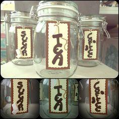 Barattoli in vetro,con chiusura ermetica, decorati a mano in Fimo ...