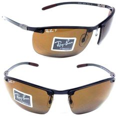 f55d02ec59 Ray-Ban Carbon Fibre RB 8306 Sunglasses Dark Carbon   Brown Polarized Ray- Ban.  149.95
