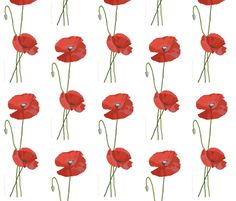 Poppies for Anne fabric by willgoh on Spoonflower - custom fabric