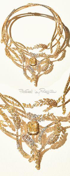 GABRIELLE'S AMAZING FANTASY CLOSET | Les Blés de Chanel Foliate White and Yellow Diamond Necklace