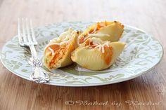 Buffalo Chicken Stuffed Shells - bakedbyrachel.com