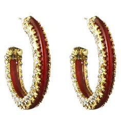 Siyabona Gold Carnelian Hoop Earring