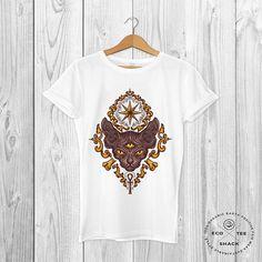 Sacred Cat T-shirt Tattoo shirt Organic white t-shirt Vegan