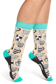 'Mug Life' Crew Socks