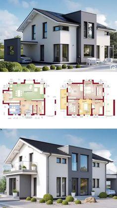 Sims House Plans, Duplex House Plans, House Layout Plans, Family House Plans, New House Plans, Dream House Plans, House Layouts, Sims House Design, Village House Design