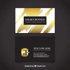 Luxurious golden card Free Vector