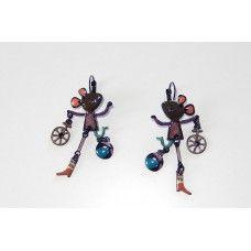 """Boucles d'oreilles - """"la souris au cirque"""""""
