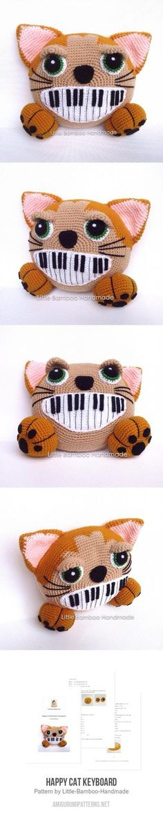 Happy Cat Keyboard Amigurumi Pattern