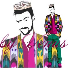 Uyghur fashion illustration