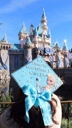 Disney's Frozen Graduation Cap at Disneyland