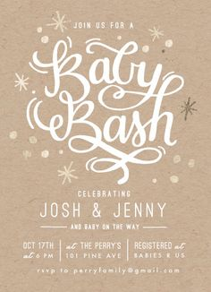 Vote for meg! Minted baby shower invitation