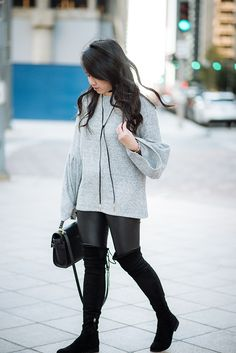 Black and grey winter outfit