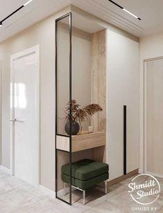 Foyer Design, Hallway Designs, Corridor Design, Wall Design, Corridor Ideas, Apartment Interior, Interior Design Living Room, Living Room Designs, Interior Decorating