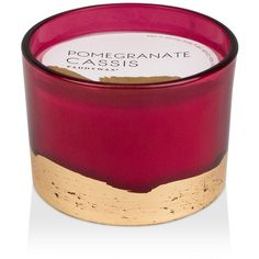 Paddywax Red Pomegranate Cassis Candle ($30) ❤ liked on Polyvore featuring home, home decor, candles & candleholders, red, scented candles, red home decor, fragrance candles, paddywax candles and red candles