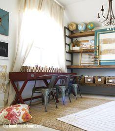 home school room ideas | the handmade home