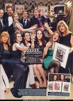 Downton Abbey season 1 cast celebrating their RADIO TIMES cover. Haha I love Williams face in this! Downton Abbey Cast, Downton Abbey Season 1, Dowager Countess, Lady Mary, Film Serie, Cinema, Period Dramas, Hollywood, Movies Showing