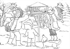 Christmas Coloring Pages, Winter Cards, Christmas Colors, Birds, Animals, Life Hacks, Winter Time, Free Coloring Pages, Colors
