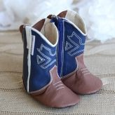 Cowboy Boots - Blue/Brown