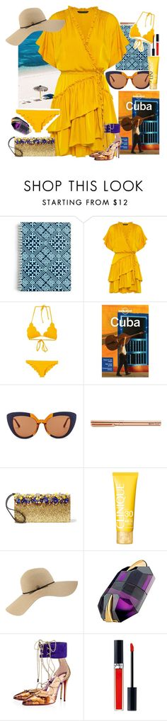 """""""Pack and Go: Cuba!"""" by cristianamikaelson ❤ liked on Polyvore featuring Vera Bradley, Marissa Webb, Marysia Swim, Lonely Planet, Marni, Clinique, Coal, Thierry Mugler, Christian Louboutin and Christian Dior"""