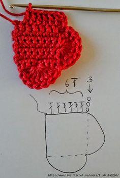 Web de crochet y patrones gratis con tutoriales en video, paso a paso y miles de patrones para imprimir Mandala Au Crochet, Crochet Flowers, Crochet Amigurumi, Crochet Toys, Crochet Basket Pattern, Crochet Patterns, Heart Diagram, Crochet Decoration, Craft Accessories