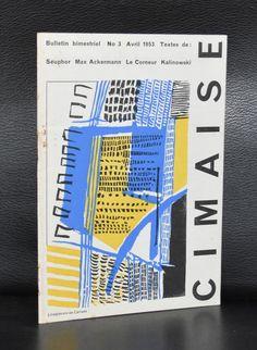 Revue de l'art Actuel # CIMAISE 3, Carrade # Avril 1953, nm