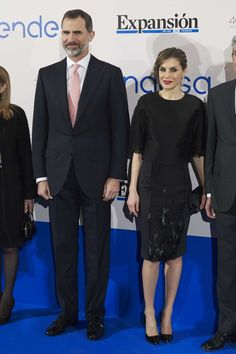 King Felipe and Queen Letizia attend the Expansion newspaper 30th anniversary at the Palace Hotel in Madrid