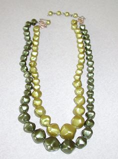 Vintage 1950s Hong Kong Green Beaded Necklace by BESTBUYONLINES, $13.00 10% Discount
