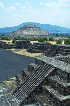 La piramide del sol, Teotihuacan, Mexico
